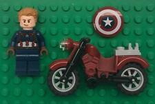 Lego Captain America Minifig lot: Super Hero Figure 76047 with Motorcycle