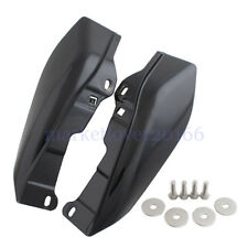 New Glossy Black Mid-Frame Air Deflectors For Harley Road King Tri Glide 2009-up