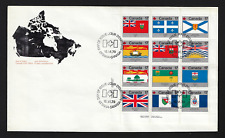 Canada FDIC - 1979, Provincial & Territorial Flags #832a (Lower Left) Lot 60476