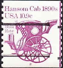 US - 1982 - 10.9 Cents Purple 1890's Hansom Cab Precancel Coil #1904a Plate #2