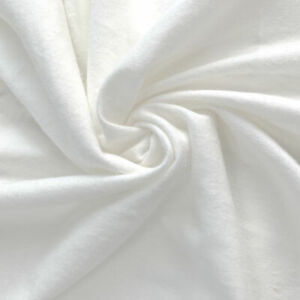 White 100% Cotton Flannel Fabric Warm Sheeting Pajamas 150cm Width By The Meter