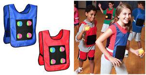 Wurfspiel Klettballspiel Klett Werfen Fangen Kinder Spielzeug, 2 Westen 12 Bälle