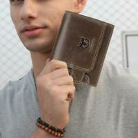 BULLCAPTAIN Bifold Short Wallet Men Clutch Casual Coin Purse Card Holder