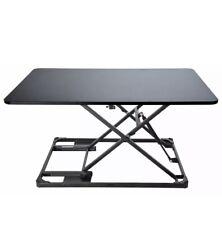 Conquer Mini Standing Desk Adjustable Monitor Riser Tabletop Workstation