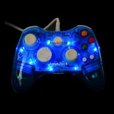 Glow Blue USB Wired Remote Controller Gamepad For Microsoft Xbox 360/360 Slim/PC