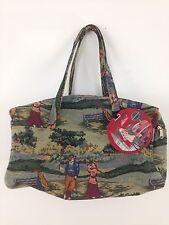 Vtg Style Holdings Fine Accessories Cotton Canvas Golf Zip Close Tote Duffel Bag