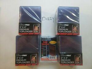 100 Ultra Pro Premium 3X4 Toploaders 4 packs of 25 & 100 Soft Sleeves Pls Read