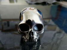 Large Solid Sterling Silver Anatomical Skull Ring Keith Richards Style 65 grams