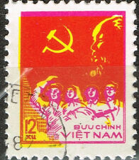 Vietnam War Viet Cong Army Soldier and Leader Ho Shi Min Flag 1987 stamp