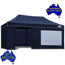Gazebo 3x6m Instahut Pop Up Outdoor Folding Marquee Tent Canopy Party - NAVY