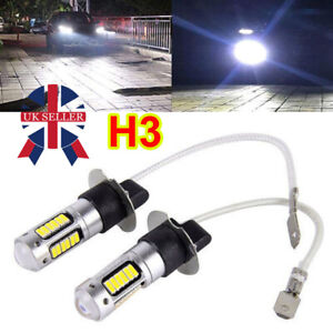 2Pcs H3 30-SMD 4014 LED Bulb XENON White 6500K-Car Fog Light Lamp 12V Quality