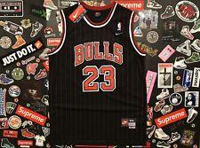 Chicago Bulls Michael Jordan Brand New Nike Pinstripe Black Jersey Mens Size XXL