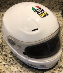 OMP AGV Racing Helmet, Autocross, White. Size Medium. Free Shipping!
