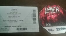 SLAYER Satin Backstage pass 2016 with ticket