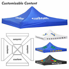 10x10ft Custom Print Canopy Top Pop Up Tent Commercial Booth Vendor Show Trade