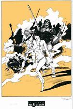Ex-libris Sérigraphie Pionniers du Nouveau Monde (Les) Bataille Het B-Gevaar