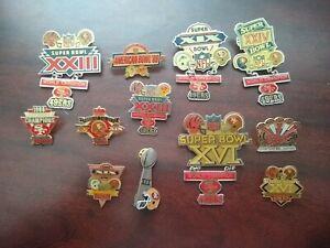 Vintage San Francisco 49ers Superbowl Pin Collection