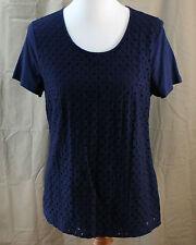 Croft & Barrow, Medium, Navy Knit Top