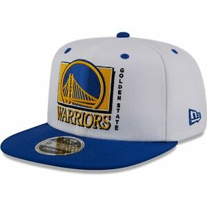 Golden State Warriors New Era Retro 9FIFTY Snapback Hat - White/Royal