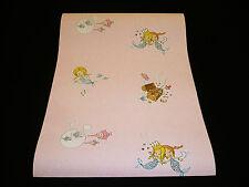 """7203-2-4-PR) 1 Rolle Papier Tapete """"Wonderland"""" niedliche Meerjungfrauen rosa"""