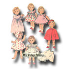 """Vtg 1960s Baby Doll Clothes Pattern Dress Coat Hat Nightgown ~ 22"""" Kissy Toodles"""