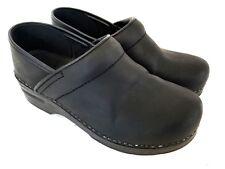 Dansko Women's Professional Black Oiled Mule Clogs Black EUR 38 US 7.5 - 8 Z960