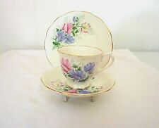 Royal Albert, Friendship, Sweet Pea Bone China England 1940'S Trio Set