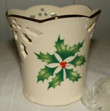 Lenox Christmas Holidays Holly Small Votive Candle Holder New Never used