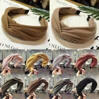 Headband Women Headwrap Twist Hairband Bow Knot Cross Tie Cloth Hair Band Hoop,