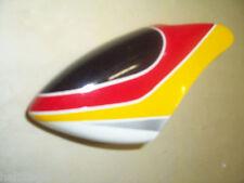 Capot Canopy rouge/jaune/argent t rex 250
