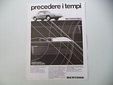 advertising Pubblicità 1967 FIAT 850 CONVERTIBILE BERTONE