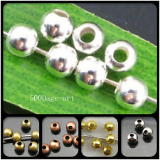 Wholesale lots Gold /Silver Copper/ gun Black / Bronze Spacer Charms Beads 2mm