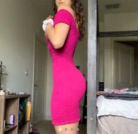 LA Hearts Popcorn Dress Pink PACSUN