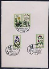 Bund 949 - 952 Karte Sonderstempel Sindelfingen 26.10 2001 Kuchenritt Blumen