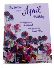 February Birthday Greeting Card Detailing Your Flower and Gemstone