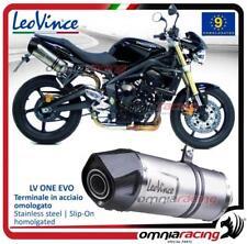 Leovince LV One EVO 2 steel exhausts Triumph Street Triple 675 2007>2012