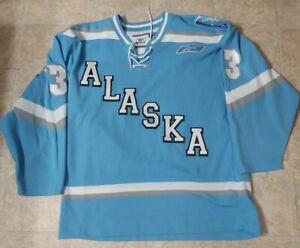 Alaska Aces Bo Cheesman #13 Hockey Jersey 2007-08 ECHL Size Medium Autographed