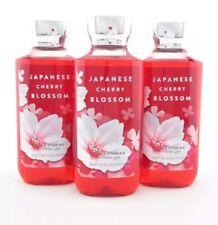 Bath Body Works 3 Japanese Cherry Blossom Shower Gel Body Wash 10oz Shea