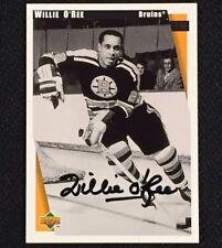 WILLIE O'REE Signed 1998 Upper Deck Commemorative Card HOF AUTO Autograph BRUINS