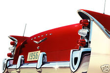 1956 Chrysler Desoto Rear View, CAR ART, Refrigerator Magnet 40 Mil thick