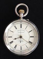 Reloj de bolsillo muy Raro Cronógrafo de plata de patente, CARDIFF 1893/MONTRE GOUSSET