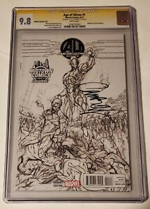 Age Of Ultron#1 cgc 9.8 (SS.J.Scott Campbell) Midtown exclusive sketch variant.
