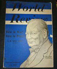 WORLD REVIEW 1945 JULY C.R. Attlee James Fox Harcourt-Smith Prof J Veraart etc
