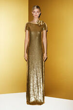 Gucci Runway Gold Jeweled Dress Mini Stunning 40