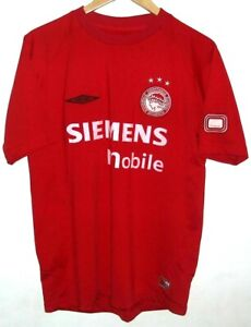 OLYMPIACOS 2004 AUTHENTIC FOOTBALL SHIRT BY UMBRO LARGE OLYMPIAKOS GREECE