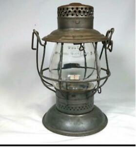 Antique PRR Railroad Lantern Adams & Westlake Co. ADLAKE Squat Bell Bottom