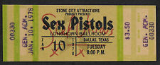 Sid Vicious Sex Pistols Autograph & Concert Ticket Reprint On 1970s Card *9009