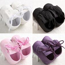 Toddler Baby Girl Boy Newborn Leather Soft Sole Shoes Christening Pram Prewalker