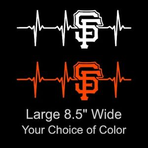 Bumper sticker Computer decal Large San Francisco Giants SF Baseball Dual Color Vinyl Decal