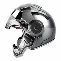 Masei 610 Gray War Machine Motorcycle Harley Unisex Bike Full Face HELMET